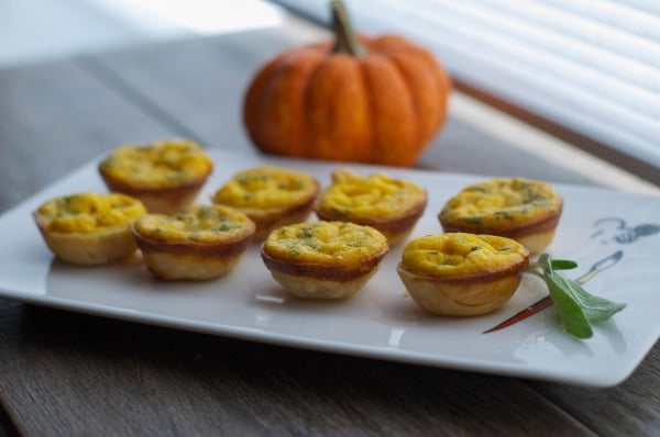 Pumpkin & Brie Mini Quiche