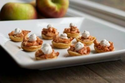 spiked mini apple tarts with cinnamon whipped cream-cek