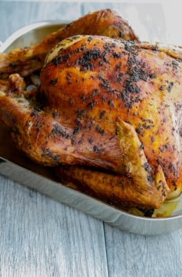 Is this your first time making Thanksgiving dinner? Well, rest assured, roasting a turkey like this Butter & Herb Roasted Turkey is a snap! Follow these simple tips on How to Roast a Thanksgiving Turkey.