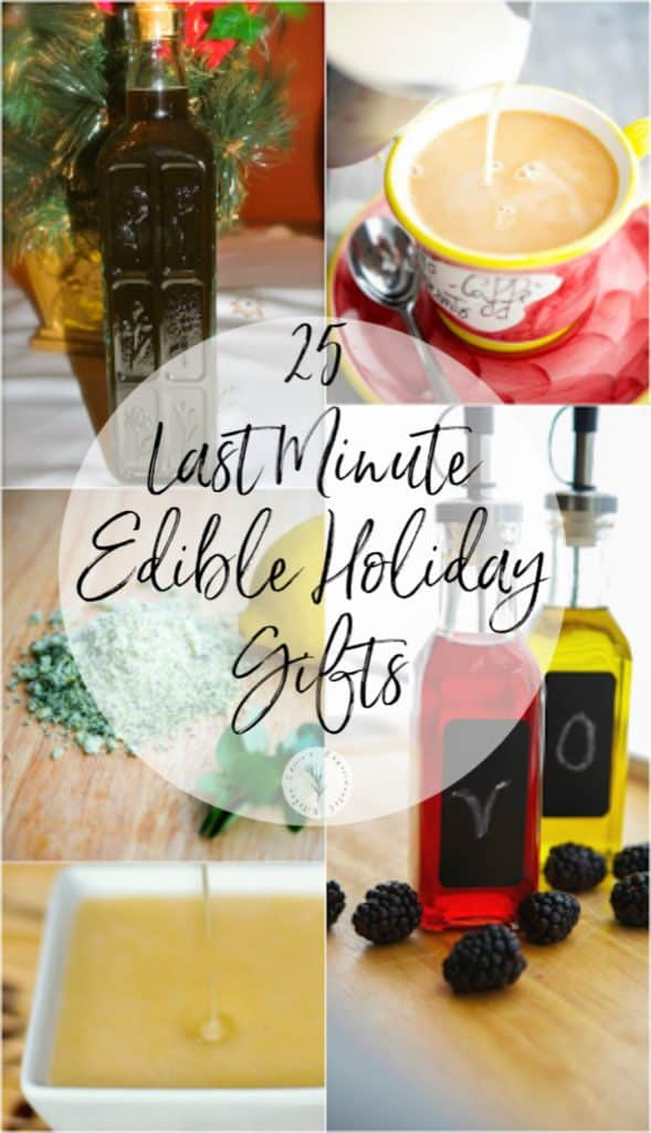 Going to a holiday party and need a gift? Choose from one of these 25 last minute edible holiday gifts that sure to please anyone.