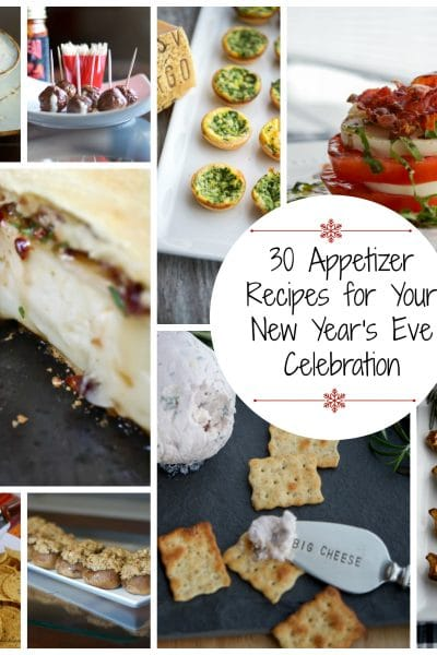 What are you doing New Year's Eve? Whatever it is, it will most likely include appetizers. Here are 30 Appetizer Recipes for your New Year's Eve Celebration.
