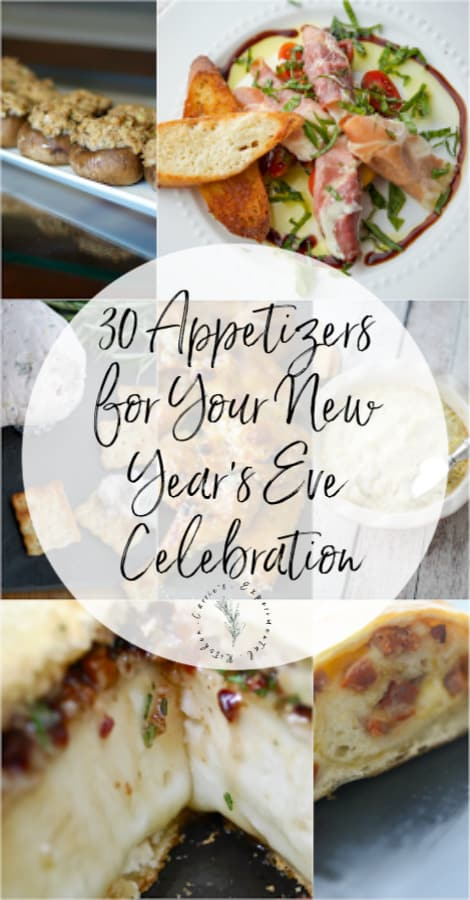 Whatever you're doing NYE it will most likely include appetizers. Here are 30 Appetizer Recipes for your New Year's Eve Celebration.