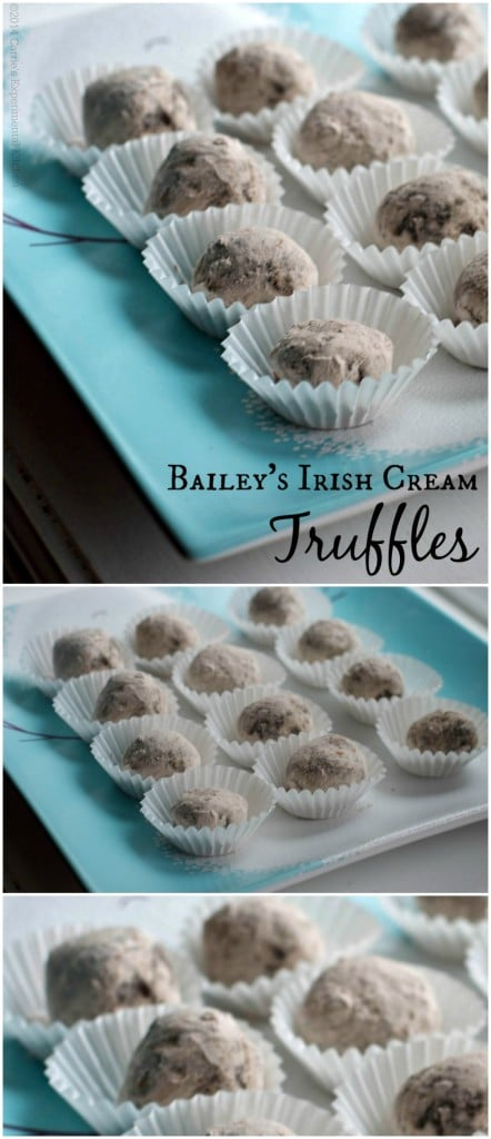These rich and creamy Bailey's Irish Cream Truffles are so good and perfect for any holiday or special occasion.  #desserts #baileysirishcream #truffles