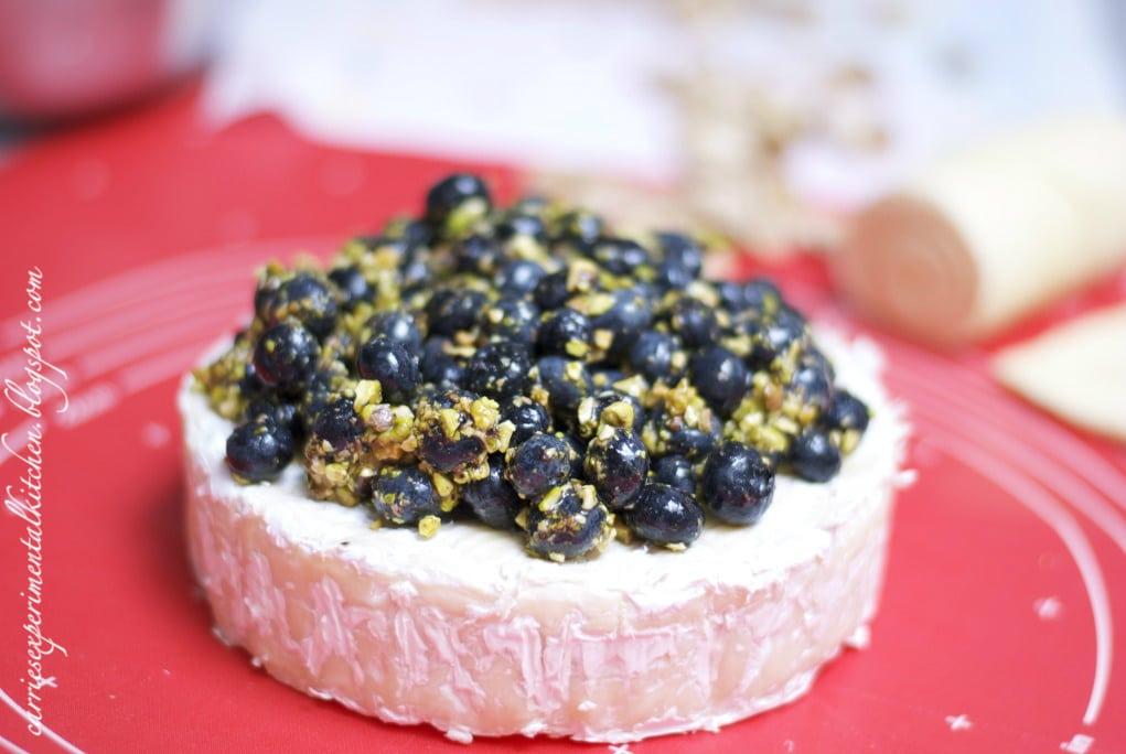 Blueberry Pistachio Brie en Croute