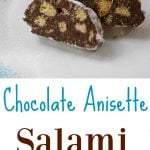 Four ingredients are all you need to make these decadent dark chocolate cookies made with Sambuca and anisette cookies. Perfect for holiday gift giving!