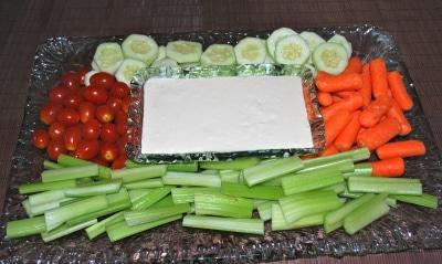 Crudite with Garlic Cheese Dip