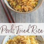 What do you make for dinner when you have leftover pork roast? Pork Fried Rice of course. It's a delicious, quick and easy weeknight meal.