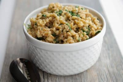 Creamy Farro with Spinach, Garlic & Asiago 2