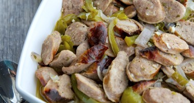 Italian Sausage & Peppers in a White Wine Sauce