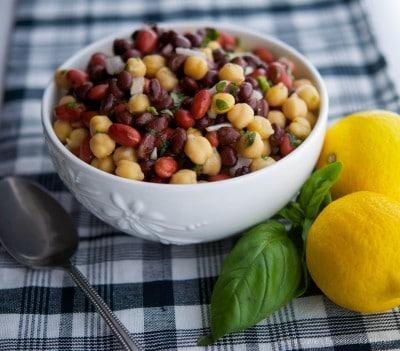 Lemon-Basil Three Bean Salad