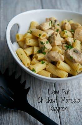 Low Fat Chicken Marsala Rigatoni | Carrie's Experimental Kitchen #pasta