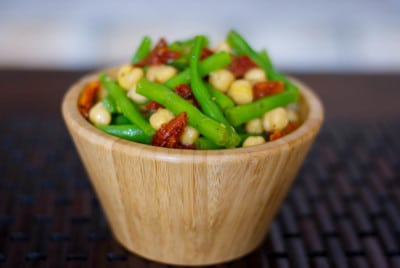 Mediterranean Garbanzo and Green Bean Salad-Carrie's Experimental Kitchen