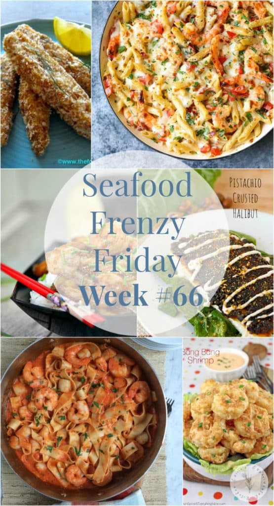 Find the lastest and greatest seafood recipes from around the web all in one post with my weekly roundup of Seafood Frenzy Friday Week #66.