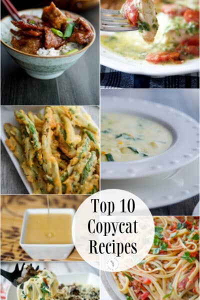 Everyone loves copycat recipes and Carrie's Experimental Kitchens' readers are no exception. Here are the Top 10 Copycat Recipes based on reader favorites!