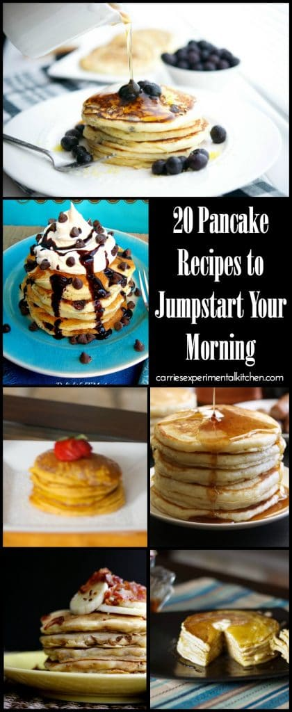 Tired of the same boring pancake recipe? Try one of these 20 pancake recipes to help jumpstart your morning.