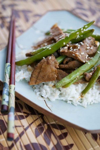 Utilize leftovers to make this quick and easy Beef & Green Bean Stir-Fry weeknight meal.