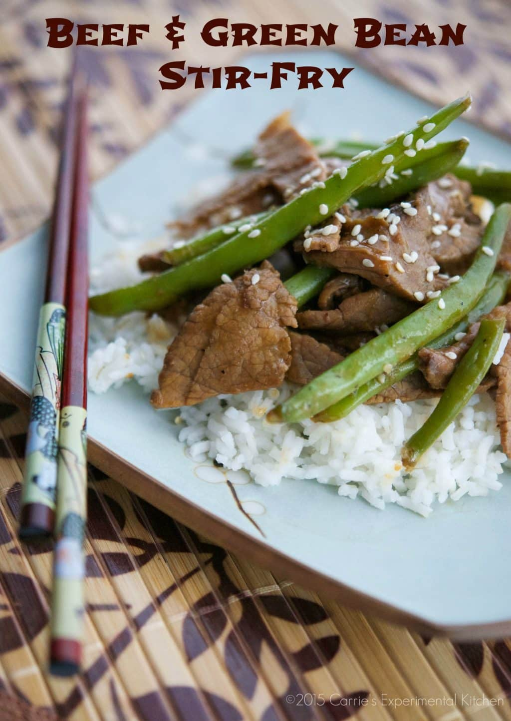 Beef & Green Bean Stir Fry | Carrie's Experimental Kitchen #beef #gluten free
