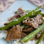Utilize leftovers to make a new weeknight meal with this quick and easyAsian style Beef & Green Bean Stir-Fry.