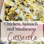 Chicken, Spinach and Mushroom Casserole
