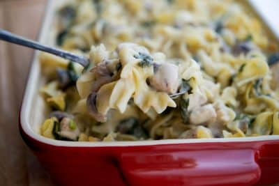 Creamy Chicken, Spinach & Mushroom Casserole-Horizontal 2