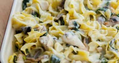 Creamy Chicken, Spinach & Mushroom Casserole