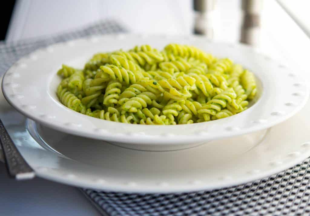Gluten Free Pasta with Mixed Herb Pesto