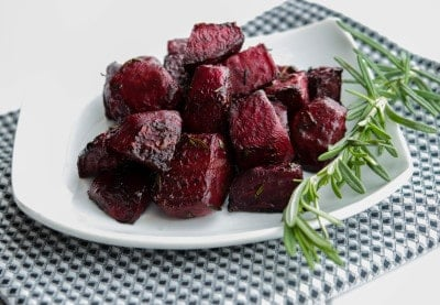 Oven Roasted Balsamic-Rosemary Beets closeup
