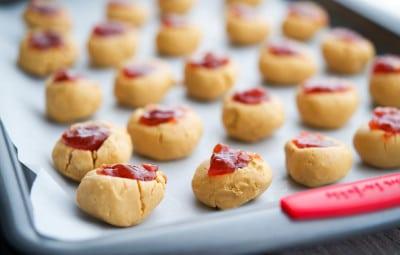 Peanut Butter & Jelly Truffles closeup