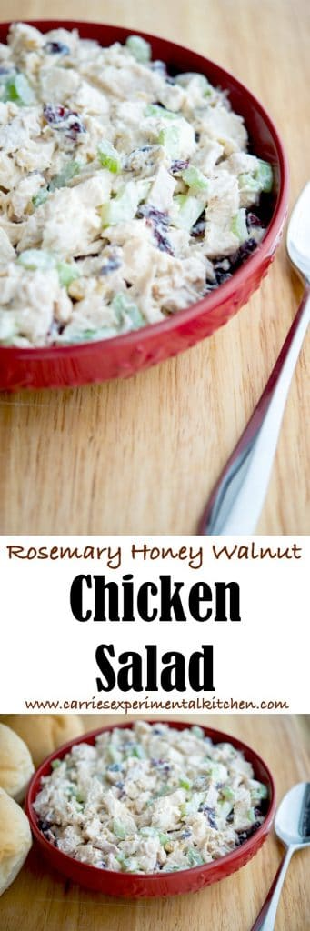 Utilize leftover roasted or grilled chicken by making this delicious Rosemary, Honey and Walnut Chicken Salad. Serve alone with crackers or make a sandwich.