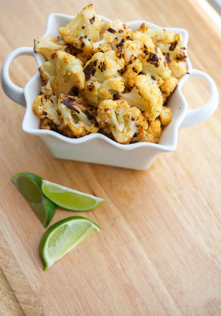 Sriracha hot sauce combined with extra virgin olive oil, fresh lime juice and cauliflower; then roasted until golden brown.