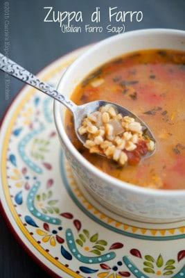 Zuppa di Farro (Italian Farro Soup) - Carrie's Experimental Kitchen #soup