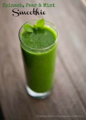 spinach, pear & mint smoothie-cek