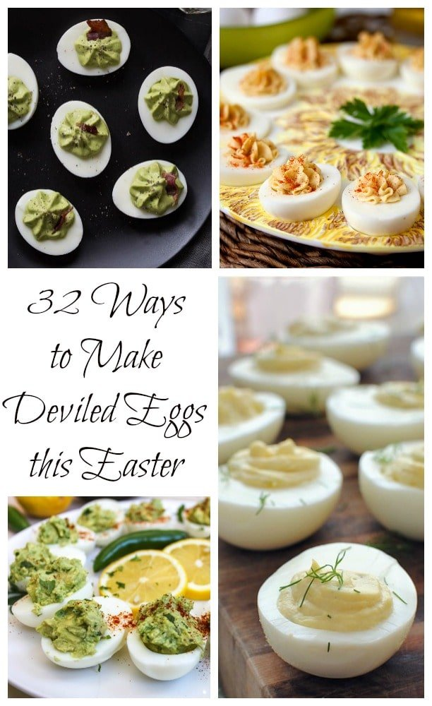 32 Ways to Make Deviled Eggs This Easter | Carrie's Experimental Kitchen #eggs #easter #appetizer
