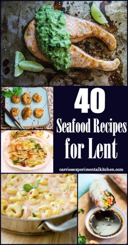 If you partake in no meat on Friday's during the Christian holiday of Lent, these 40 Seafood Recipes will help give you a little menu planning inspiration.