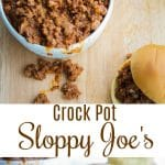 Crock Pot Sloppy Joe's made with lean ground beef in a tangy tomato sauceare tasty sandwiches the entire family will love. Perfect for busy weeknight dinners or outdoor gatherings.
