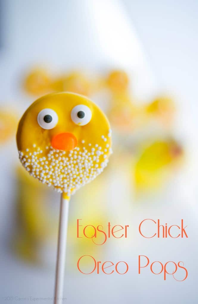 Easter Chick Oreo Pops | Carrie's Experimental Kitchen #easter #dessert