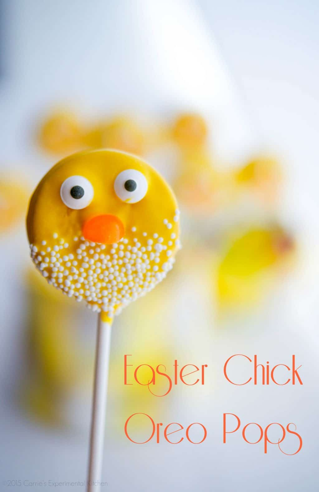 easter chick oreo pops carries experimental kitchen easter dessert - Easter Chick