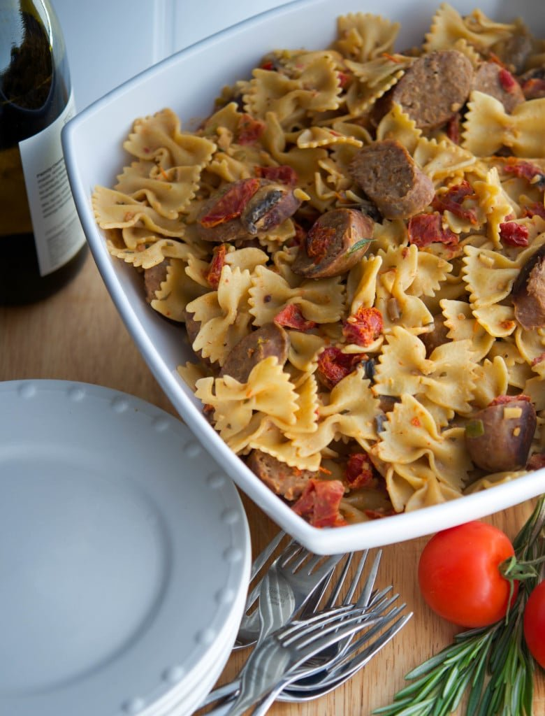 Farfalle with Italian Sausage and Vegetables