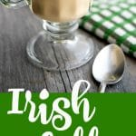 Warm your soul with this recipe for homemadeIrish Coffee made with freshly brewed coffee and Irish whiskey; then topped with a dollop of whipped cream.