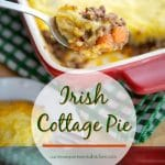 Whether you're celebrating St. Patrick's Day or just want a deliciously easy casserole dish, this Irish Cottage Pie made with ground beef and cheesy mashed potatoes will be a definite crowd pleaser.
