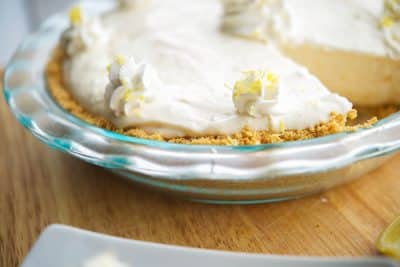 No Bake Limoncello Pie Closeup