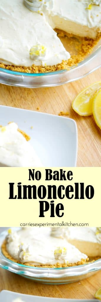 No Bake Limoncello Pie is deliciously light and lemony. A perfect dessert option without using much needed oven space during the holidays.