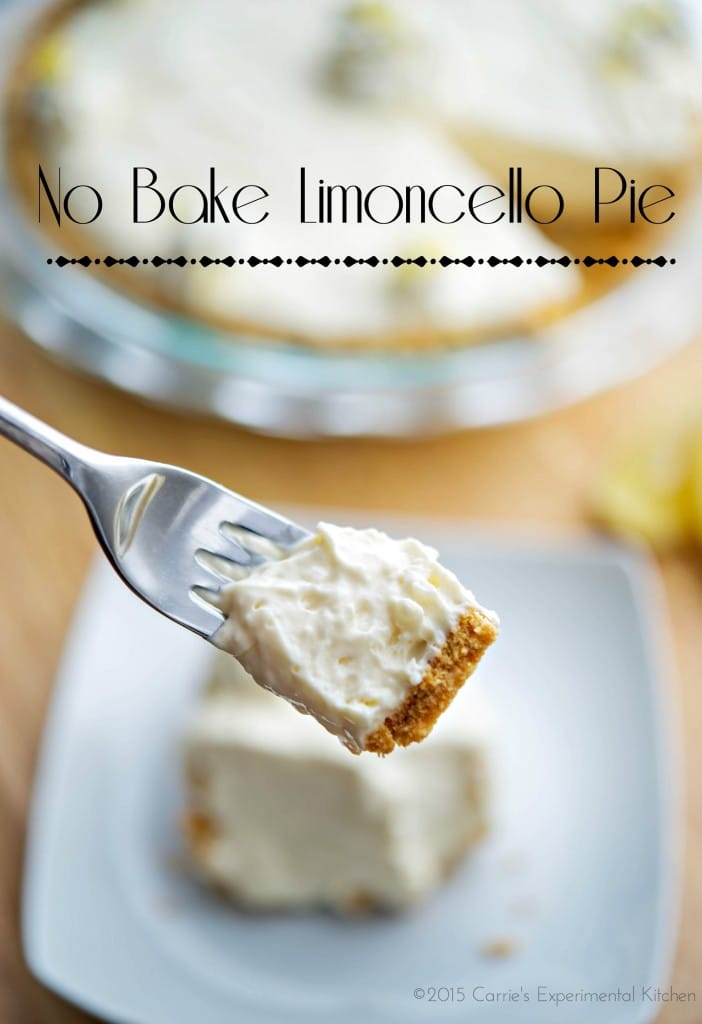 No Bake Limoncello Pie | Carrie's Experimental Kitchen #dessert #lemon