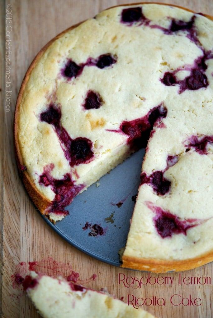 Raspberry Lemon Ricotta Cake | Carrie's Experimental Kitchen #dessert