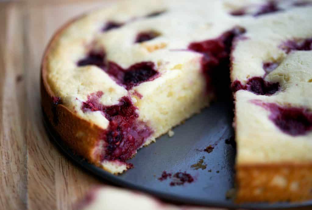 Raspberry Lemon Ricotta Cake