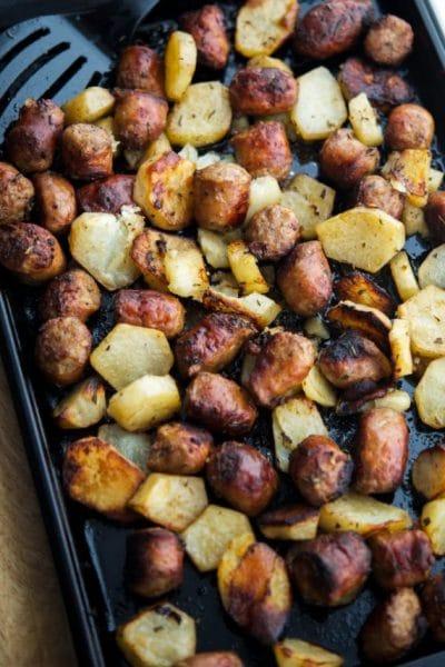 Roasted Italian Sausage & Potato Bake
