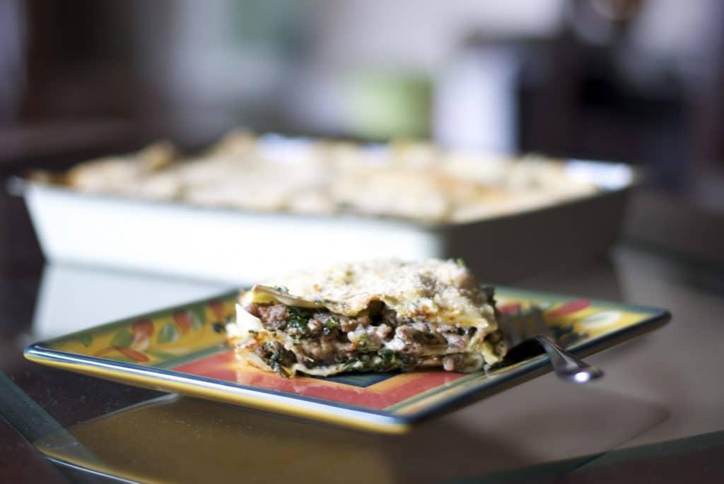 Sausage, Spinach and Mushroom Lasagna