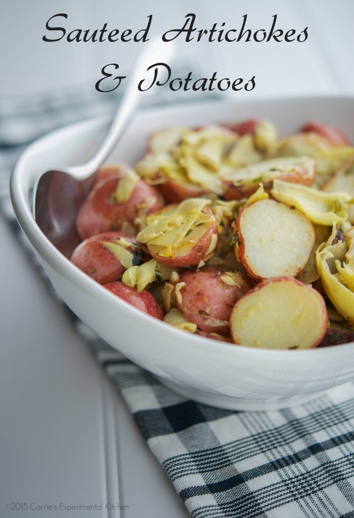 Sauteed Artichokes & Potatoes | Carrie's Experimental Kitchen #sundaysupper #easter