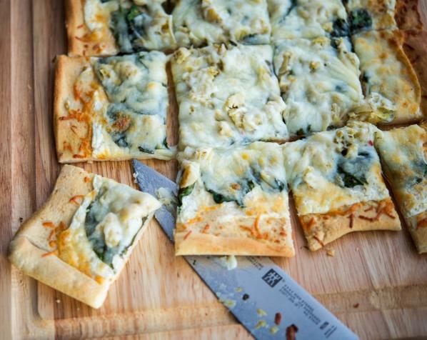 Spinach Artichoke Flatbread