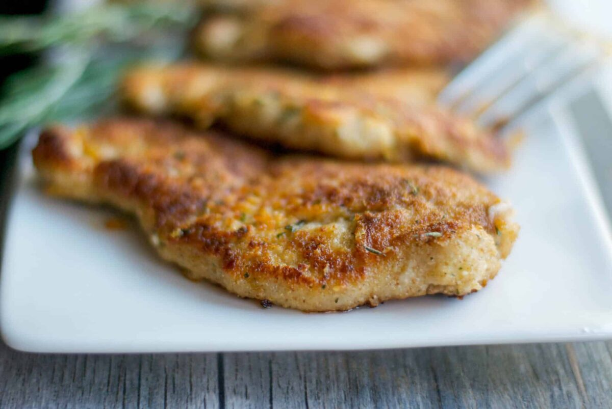Parmesan Rosemary Pork Cutlets